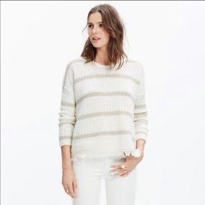 Madewell Striped Fringe Sweater M